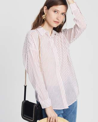 Maison Scotch Dropped Shoulder Printed Shirt