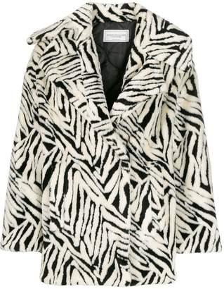 Couture Forte Dei Marmi abstract pattern wide-lapel coat