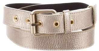 Burberry Metallic Leather Buckle Belt