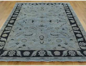 Isabelline One-of-a-Kind Lennert Overdyed Hand-Knotted Gray Wool Area Rug Isabelline
