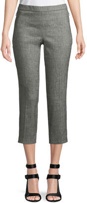 Theory Basic Sharkskin Pull-On Cropped Pants