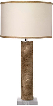 Jamie Young Cylindrical Rope Table Lamp - Natural