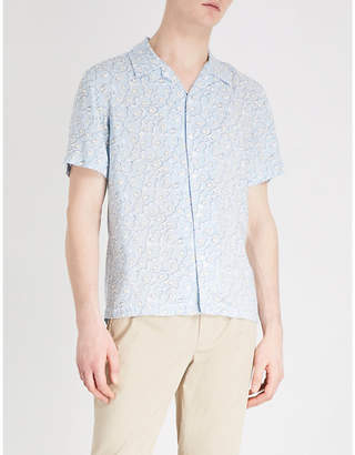 Sandro Floral-pattern regular-fit woven shirt