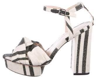 Loeffler Randall Striped Platform Sandals