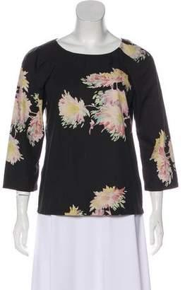Dries Van Noten Floral Print Long Sleeve Top