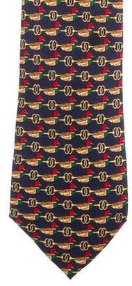 Burberry Animal Print Silk Tie