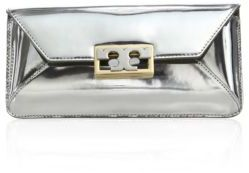 Tory Burch Tory Burch Gigi Metallic Leather Envelope Clutch