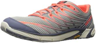 Merrell Women's Bare Access Arc 4 Hiking Shoes, Sleet/Vibrant Coral