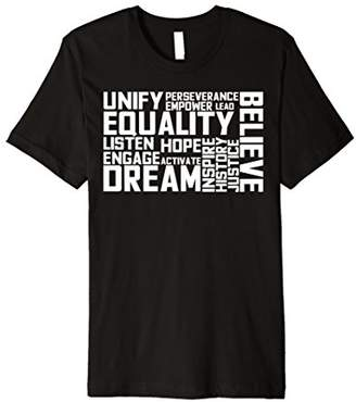 Equality For All Inspire Hope Word Art Equal Rights TShirt