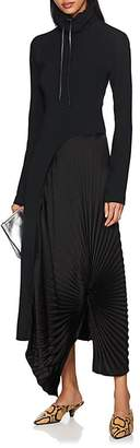 Victoria Beckham Women's Pleated-Inset Crepe Maxi Dress