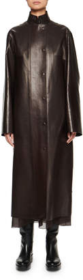 The Row Emely Leather Car Coat