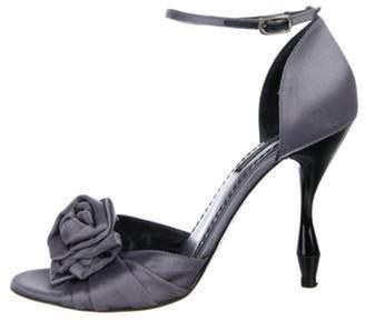 Marc Jacobs Satin High-Heel Sandals Grey Satin High-Heel Sandals