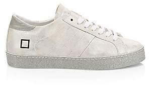 D.A.T.E Women's Hill Glitter Leather Low-Top Sneakers