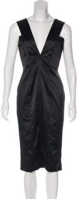 Just Cavalli Satin Midi Dress