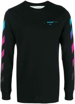 Off-White gradient stripe sweatshirt
