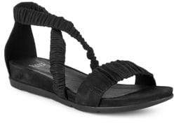 Eileen Fisher Dylan Rib-Strap Leather Sandals
