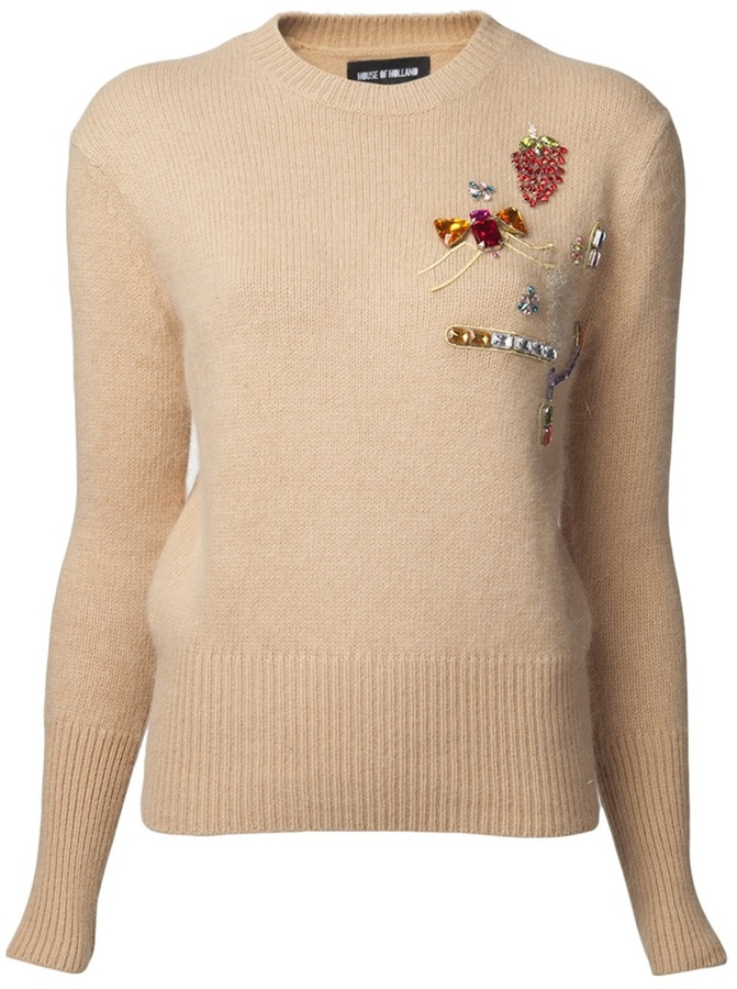 House of Holland embellished jumper sweater