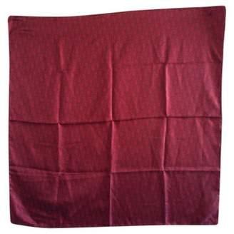 Christian Dior Burgundy Silk Silk Handkerchief