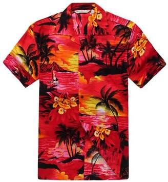 Hawaii Hangover Men's Hawaiian Shirt Aloha Shirt XS Sunset Red