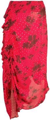 Preen Line mixed-print midi skirt