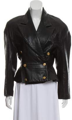 Andrew Marc Structured Leather Jacket