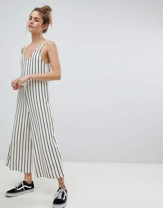 Pull&Bear Stripe Cami Jumpsuit
