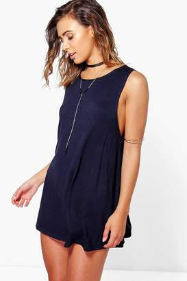 boohoo Petite Drop Armhole Swing Dress