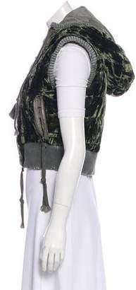 Greg Lauren Cropped Velvet Vest
