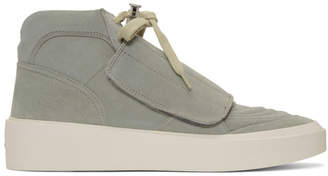Fear Of God Grey Skate Mid Sneakers