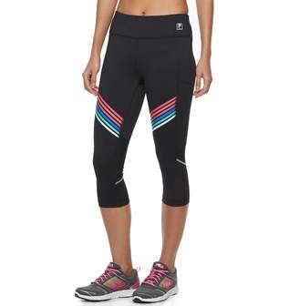 Fila Sport Women's SPORT Striped Mesh Capri Leggings