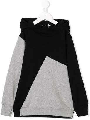 Nununu contrasting panels hoodie