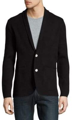 Hardy Amies Button-Front Cardigan