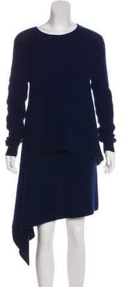 Derek Lam Cashmere Asymmetrical Long Sleeve Dress