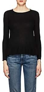 Barneys New York WOMEN'S CASHMERE PEPLUM SWEATER-BLACK SIZE XL