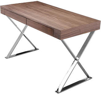 One Kings Lane Alba X-Leg Desk - Walnut