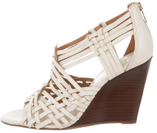 Tory Burch Tory Burch Leather Wedge Sandals