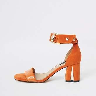 River Island Orange block heel sandals