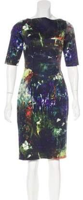 Lela Rose Painting Print Knee-Length Dress