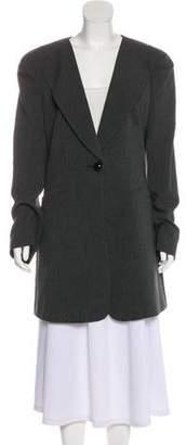 Giorgio Armani Structured Knee-Length Coat w/ Tags