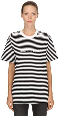 Bbc-Billionaire Boys Club Striped Cotton Jersey T-Shirt