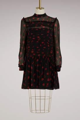 Miu Miu Strawberries print silk dress