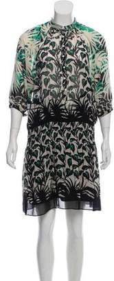 Jean Paul Gaultier Soleil Silk Printed Knee-Length Dress