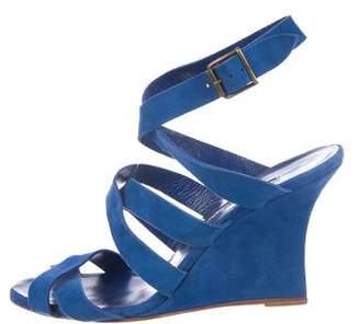 Manolo Blahnik Suede Wedge Sandals
