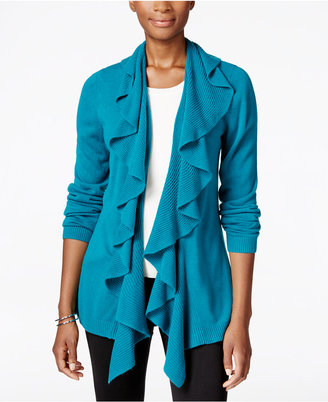 Karen Scott Luxsoft Ruffled Cardigan, Only at Macy's $49.50 thestylecure.com