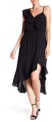 1 STATE 1.State Ruffled Hi-Lo Midi Dress
