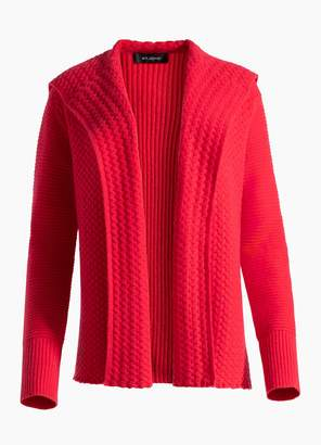 St. John Cable Cashmere Knit Cardigan