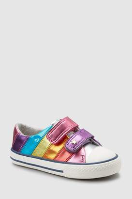 Next Girls Multi Stripe Touch Fastening Trainers (Younger)