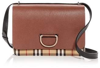 Burberry Medium Vintage Check & Leather D-Ring Bag