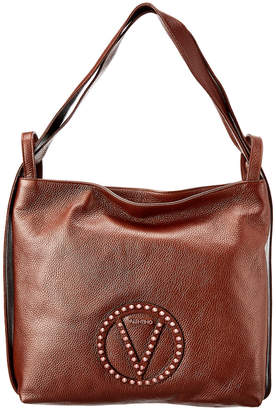 Mario Valentino Valentino By Leopold Rock Dollaro Leather Hobo Bag