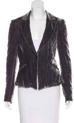 Rebecca Taylor Velvet Button-Up Blazer